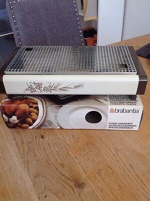 VINTAGE 1970s BRABANTIA HARVEST TABLE TOP FOOD WARMER HOT PLATE USED ONCE