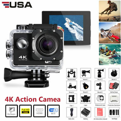 Go As Pro 4K Ultra HD DV 16MP 1080p Sports Action Camera+Full Accessory Bundle