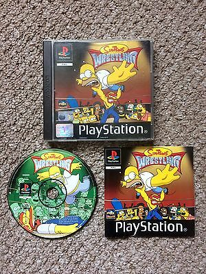 THE SIMPSONS WRESTLING PS1 PAL Version with Instructions