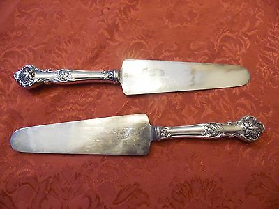 Vintage Silver Plated Flatware Charter Oak Pie Cake Server Table Use Lot Of 2