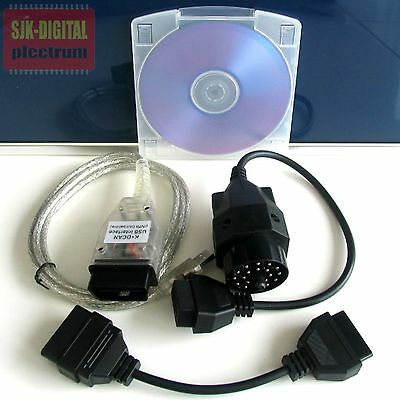 OBD B.M.W MINI INPA Ediabas NCS NFS DIS SSS GT1 K+DCAN USB Diagnose Interface ++