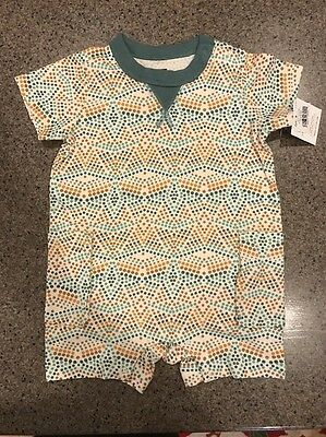 NWT Tea Collection Baby Boys Summer Romper, Size 6-9 Month