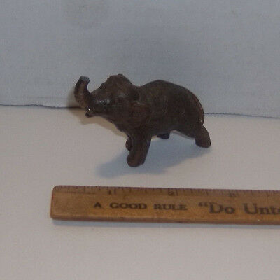 Vintage/Antique Small BRONZE ELEPHANT FIGURINE