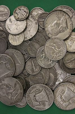 MAKE OFFER Half Troy Pound 1964 Kennedy Franklin Mercury Walking Roosevelt Junk