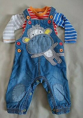 Next baby boys dungarees 3-6 months