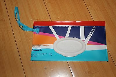 NEW! Huggies Clutch 'n Clean Baby Wipes Contemporary Arts Travel Case only