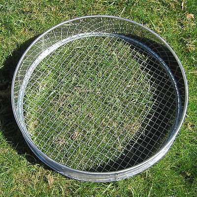"""Traditional St St Garden Riddle, 14"""" (350mm) with 3/8 stainless steel mesh"""