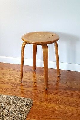 Retro Vintage THONET NEW YORK Stool / Table / Foot Rest with Bentwood Legs!