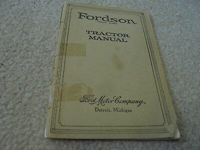 Vintage 1925 Fordson Tractor Manual