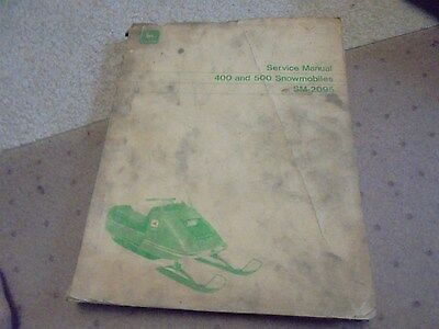 Vintage 1971 John Deere 400 and 500 Snowmobiles  Service  Manual