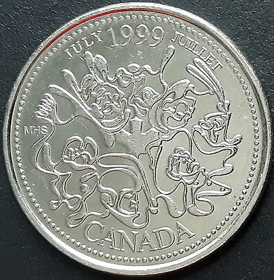 CANADA 1999 CANADIAN QUARTER 25 Cents JULY - JUILLET COIN.