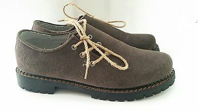 Authentic German Bavarian Oktoberfest Trachten Lederhosen  Brown Shoes Men's 43