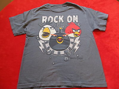 Boys Angry Birds T Shirt Size M ( 8 ) ( 10 )
