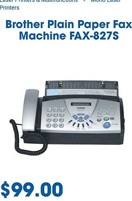 BROTHER Fax - 827S Machine - Used once