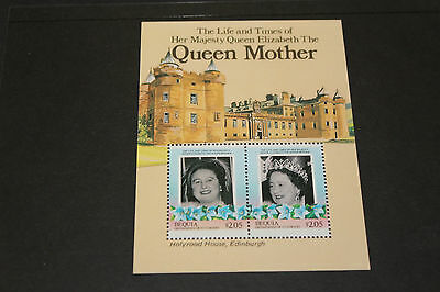 Bequia 1985  Queen Mothers Life And Times  M/sheet   Fine M/n/h
