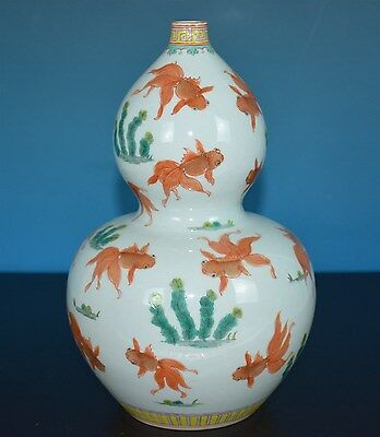 Rare Chinese Famille Rose Porcelain Vase Marked Qianlong Rare N0466
