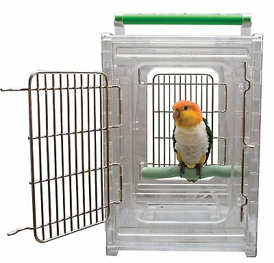 Perch and Go Clear View Bird Carrier and Travel Cage, New, Free Shipping