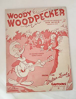 Vintage 1948 Sheet Music Woody Woodpecker By Walter Lantz