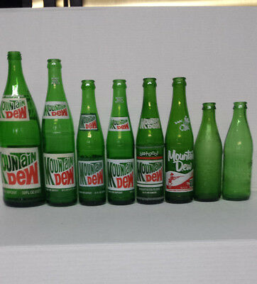 set of 8 Mountain Dew ACL bottles