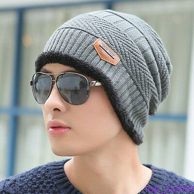 Beanie Skull Cap Unisex Cashmere Wool Knit Winter Hat Beanie For Men Women TOP