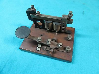Antique Telegraph Key & Souder,Unmarked,3-1/2 x 4-1/2 Base,GOOD   #TK5.20.17