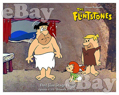 Rare FLINTSTONES Cartoon Color Photo HANNA BARBERA Studios PEBBLES Shinrock