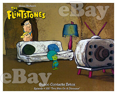 Rare FLINTSTONES Cartoon Color Photo HANNA BARBERA Studios GREAT GAZOO