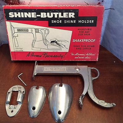 Vintage Shine-Butler Shoe Shine Holder Original Box