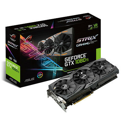 ASUS GeForce ROG STRIX GTX1080TI 11GB GAMING 11GB GDDR5X 352bit 1xDVI 2xHMDI