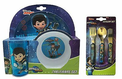 Miles From Tomorrowland Merc 6pc Tumbler, Bowl, Plate & Cutlery Mealtime Set
