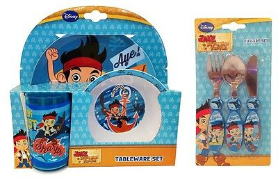 Jake & the Neverland Pirates 6pc Tumbler, Bowl, Plate & Cutlery Mealtime Set
