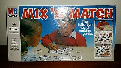 VINTAGE - MIX 'N' MATCH  Word Making Educational Game by Milton Bradley