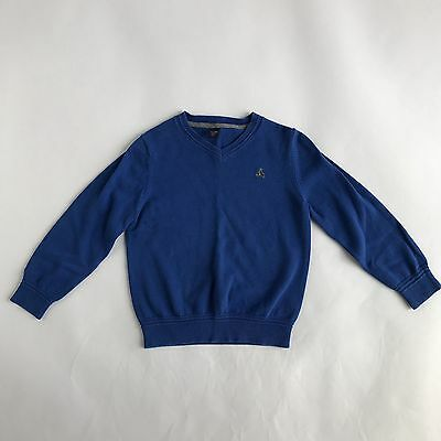 Baby Gap Toddler Boys V Neck Blue Long Sleeve Sweater Size 5 Years CC