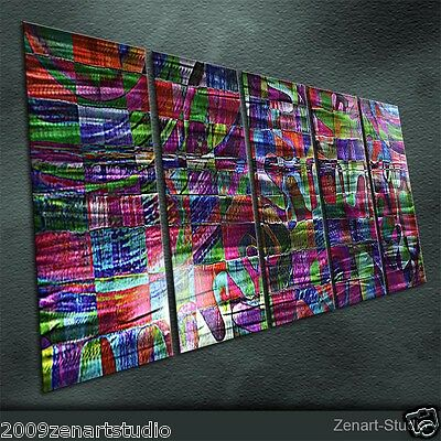Original Modern Metal Wall Art Abstract Large Indoor Outdoor Decor by Zenart