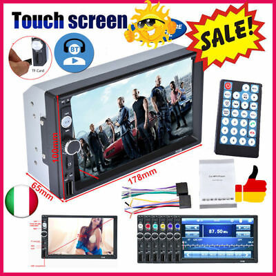 """7010B 7"""" TFT Bluetooth V2.0 Car Audio Stereo HD Touch Screen MP5 Player with AUX"""