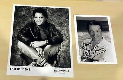 GENERAL HOSPITAL SAM BEHRENS PROMO 8x10 AUTOGRAPH 5x7 PHOTOS Signed Sunset Beach