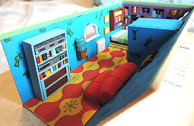 RARE Hey Arnold Diorama- Art 1:48, quarter scale dollhouse, Nickelodeon nick box