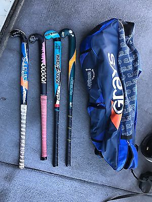 Hockey Sticks & Bag