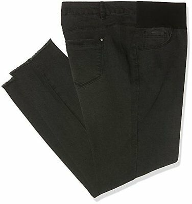 New Look Maternity Savannah, Jeans Donna, Black (Black), 50