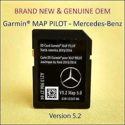 2015-17 Mercedes-Benz SD Card GPS Navigation GLC E C-Class Garmin Map Pilot OEM