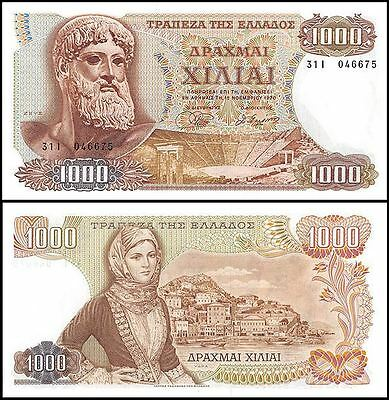 Greece 1,000 (1000) Drachmaes, 1970, P-198a, UNC