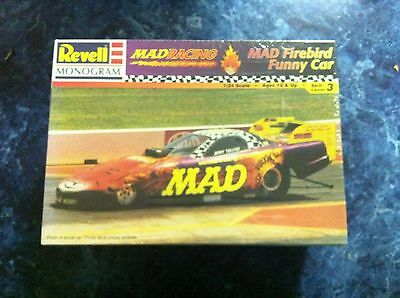 Revell Mongram MAD Firebird Funny Car Model Car Kit Drag Sealed Suit Slot Car