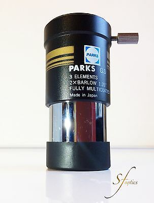 PARKS GOLD Series 3 elements 2x BARLOW Japanese Lens 1.25""