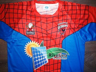 SOUTHERN INLAND REDBACKS RUGBY UNION 2XL TRAINING SHIRT not JERSEY SPIDERMAN NSW