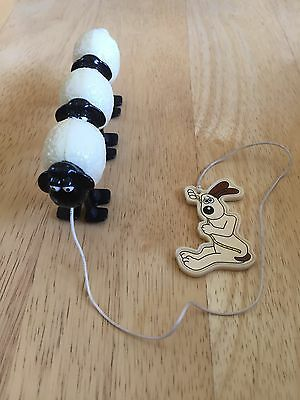 RARE Wallace & Gromit Pull Toy, Sheep, Applause 1989