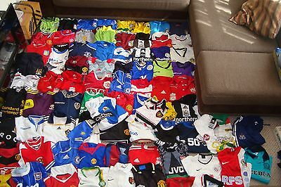 Huge Job Lot 88 Vintage & Modern Football Shirts Tops Man Utd Barca Arsenal