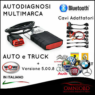 Autodiagnosi Multimarca Bluetooth Delph1 2015.3 + W.0.w + 8 Cavi Auto Diagnosi