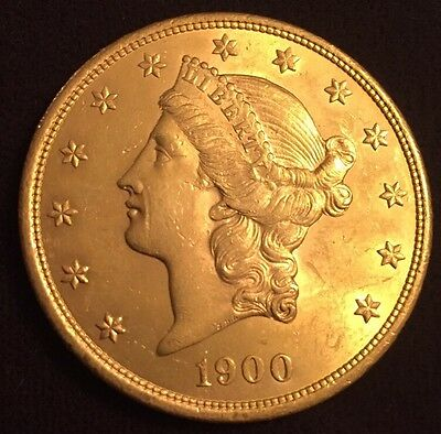 1900 - P $20 Liberty Head Double Eagle Gold Coin - Superb/Unrated/Beautiful