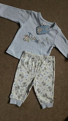 Disney Store thumper baby pyjamas size 0-3 months NEW with tags