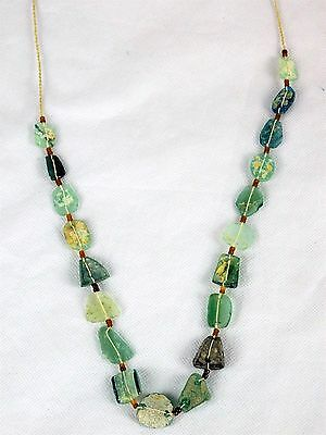 3) Ancient Roman Glass Necklace - Rome Jewellery - Afghanistan 2000 yrs old